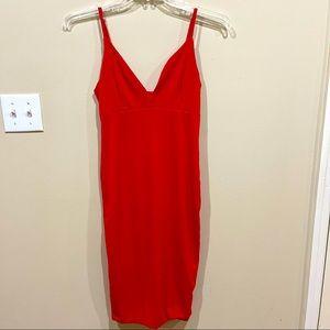 Mind Code Slinky Red Mini Dress XL
